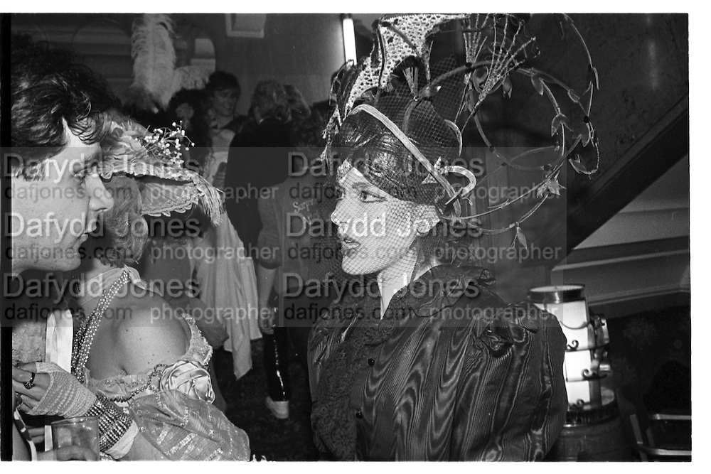 Nigella Lawson at the Piers Gaveston Ball. 13 May 1983. Park Lane Hotel. London. © Copyright Photograph by Dafydd Jones 66 Stockwell Park Rd. London SW9 0DA Tel 020 7733 0108 www.dafjones.com