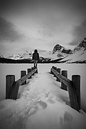 Bow Lake in winter., Alberta, Canada, Isobel Springett