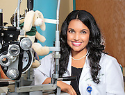 corporate portrait of optometrist at Bascom Palmer,Luxme Harihan