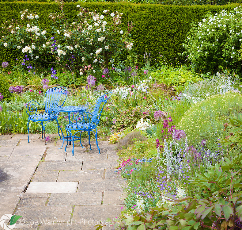 Originally designed as a white garden, a range of other colours have since been introduced.  Welcome seating is available to allow visitors to enjoy this beautiful section of the gardens.
