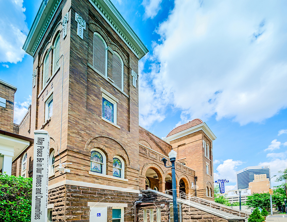 Birmingham's 16th St. Baptist Church is pictured, July 12, 2015, in Birmingham, Alabama. The historic African-American church took a central role in the Civil Rights movement when it was bombed by members of the Ku Klux Klan on Sept. 15, 1963. Four little girls were killed in the bombing. (Photo by Carmen K. Sisson/Cloudybright)