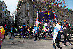 UK ENGLAND LONDON 25MAR17 - Thousands of protesters react as they walk past Downing Street during the March for Europe in central London.<br /> <br /> jre/Photo by Jiri Rezac<br /> <br /> &copy; Jiri Rezac 2017