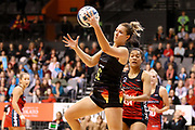 Magic goal shoot Lenize Potgieter in action during the ANZ Premiership netball match - Magic v Tactix played at Claudelands Arena, Hamilton, New Zealand on 30 July 2018.<br /> <br /> Copyright photo: &copy; Bruce Lim / www.photosport.nz