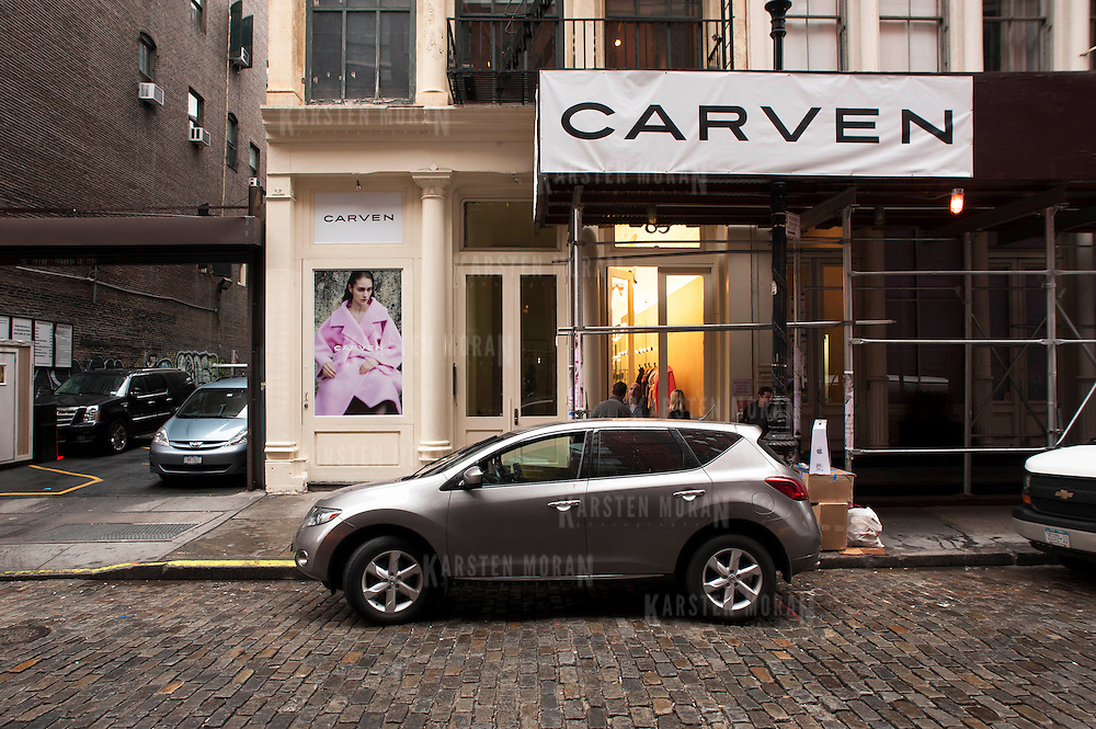 December 5, 2013 - New York, NY: Carven, the French fashion brand, has opened a New York outpost at 83 Mercer Street in SoHo (Soft open Dec. 4, full open Dec. 5). Pictured here, a view of the exterior.  CREDIT: Karsten Moran for The New York Times