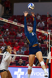 BLOOMINGTON, IL - September 15: Lauren Speckman during a college Women's volleyball match between the ISU Redbirds and the Marquette Golden Eagles on September 15 2019 at Illinois State University in Normal, IL. (Photo by Alan Look)