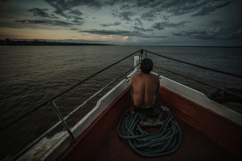 Brazil, Amazonas, rio Amazonas. <br /> <br /> Transport fluvial.