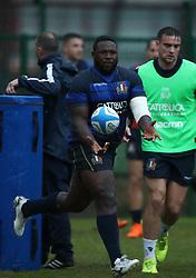 November 20, 2018 - Rome, Italy - Rugby Italy training - Cattolica Test Match.Cherif Traore at Giulio Onesti Sport Center in Rome, Italy on November 20, 2018. (Credit Image: © Matteo Ciambelli/NurPhoto via ZUMA Press)