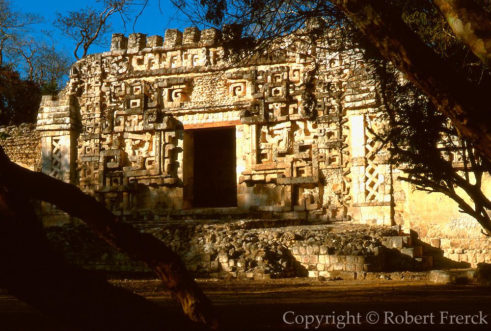 MEXICO, MAYAN, YUCATAN Hochob; 'Chac' (Rain God) doorway