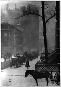 Light reflections in park at night, New York City. photomechanical print : photogravure. 1897, c1898.By Alfred Stieglitz, 1864-1946, photographer.