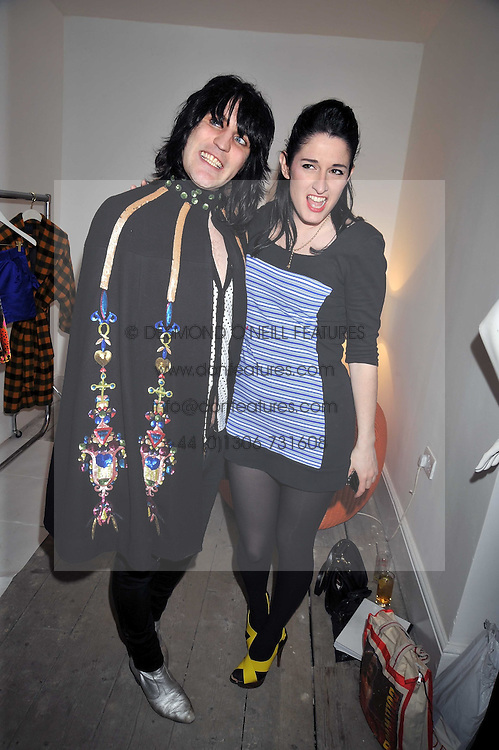 NOEL FIELDING and AMY MOLYNEAUX at a party to celebrate the opening of the PPQ Jackdaw Store at 6 Burlington Arcade, London on 8th April 2009.