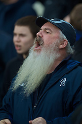LONDON, ENGLAND - Saturday, December 12, 2009: A Chelsea supporter with a long white beard during the Premiership match against Everton at Stamford Bridge. (Photo by David Rawcliffe/Propaganda)