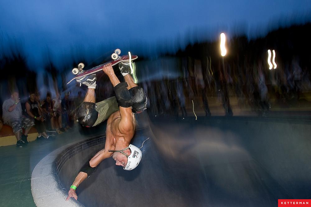 A pro skater at Kona Skate Park in Jacksonville, Florida.