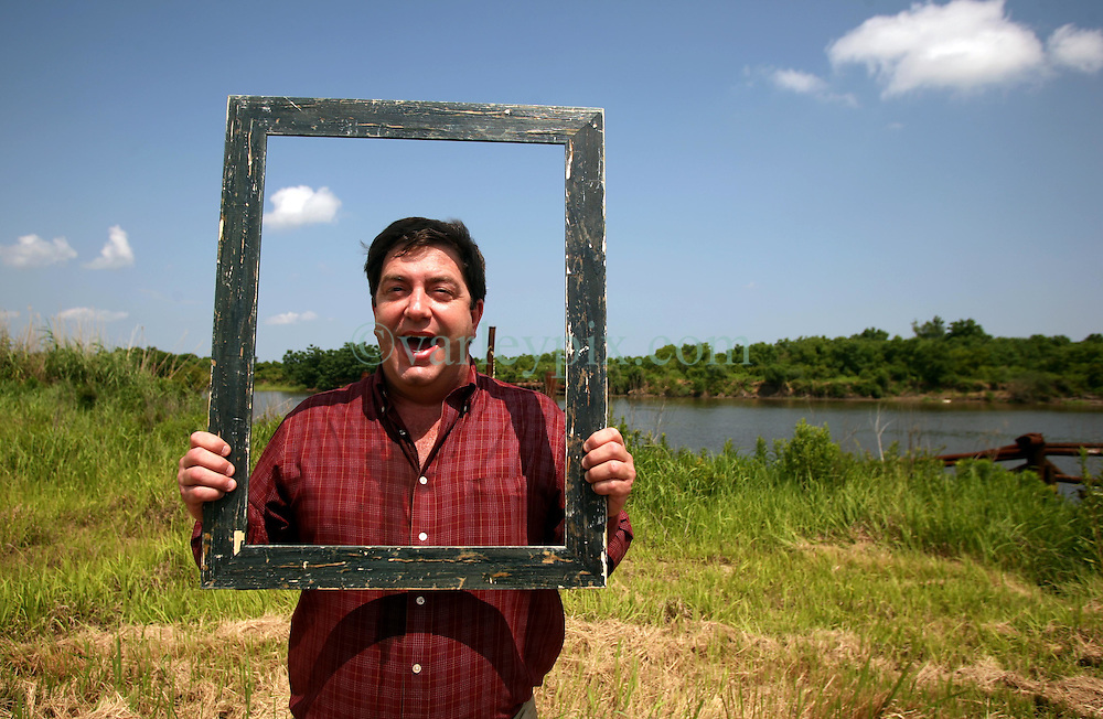 01 June 2010. New Orleans, Louisiana, USA.  <br /> Clifford Troxler at the Breton Sound Marina in Hopedale on set for Spike Lee's upcoming movie, 'If God is Willing and da Creek Don't Rise.'<br /> Photo &copy;; Charlie Varley/varleypix.com.