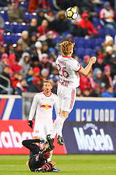 March 13, 2018 - Harrison, NJ, U.S. - HARRISON, NJ - MARCH 13:  New York Red Bulls defender Tim Parker (26) during the second half of the CONCACAF Champions League Quarter-final match between the New York Red Bulls and Club Tijuana on March 13, 2018, at Red Bull Arena in Harrison, NJ.  (Photo by Rich Graessle/Icon Sportswire) (Credit Image: © Rich Graessle/Icon SMI via ZUMA Press)