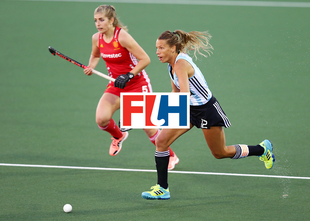 New Zealand, Auckland - 19/11/17  <br /> Sentinel Homes Women&rsquo;s Hockey World League Final<br /> Harbour Hockey Stadium<br /> Copyrigth: Worldsportpics, Rodrigo Jaramillo<br /> Match ID: 10298 - ARG vs ENG<br /> Photo: (12) MERINO Delfina against (5) HAYCROFT Sarah