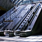 Escalators, London, England (July 2004)