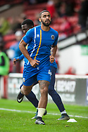 Stefan Payne of Shrewsbury Town warms up ahead of the EFL Sky Bet League 1 match between Walsall and Shrewsbury Town at the Banks's Stadium, Walsall, England on 7 October 2017. Photo by Darren Musgrove.