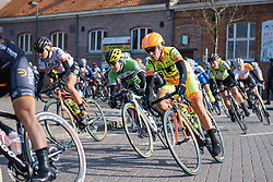 Marta Tagliaferro and Shelley Olds are well positioned in the nervy early kilometres - 2016 Omloop van het Hageland - Tielt-Winge, a 129km road race starting and finishing in Tielt-Winge, on February 28, 2016 in Vlaams-Brabant, Belgium.