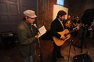 """marc Adamec plays guitar at the Yoknapatawpha Arts Council's """"Art For Everyone"""" fundraiser in Oxford, Miss. on Tuesday, October 18, 2011."""
