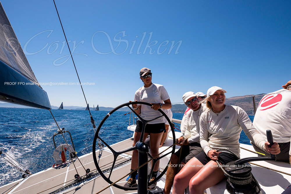 Sailing aboard Evniki during the Corfu Challenge, day five.