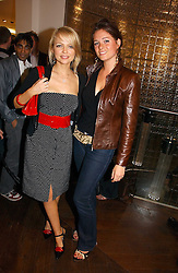Left to right, HANNAH SANDLING and ANNA-LOUISE FELSTEAD at the opening of the new Diesel shop at 130 New Bond Street, London W1 on 18th May 2006.<br />