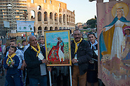Via crucis al Colosseo del popolo Rom e Sinti in occasione del Pellegrinaggio Mondiale del Popolo Gitano a Roma - The Via Crucis of the people of the Gypsies at the Coliseum, World Pilgrimage of Gypsies and Travellers to Rome.