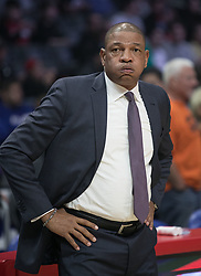 December 8, 2018 - Los Angeles, California, U.S - Coach, Doc Rivers of the Los Angeles Clippers during their NBA game with the Miami Heat on Saturday December 8, 2018 at the Staples Center in Los Angeles, California. At half, Clippers 62 vs Heat 65. (Credit Image: © Prensa Internacional via ZUMA Wire)