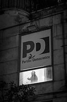 SALERNO (SA) - 4 FEBBRAIO 2018: Piero De Luca (Partito Democratico), figlio del governatore della Regione Campania Vincenzo De Luca e candidato nelle elezioni politiche del 2018 alla Camera dei Deputati, nel colleggio plurinominale di Caserta-Aversa e nel  collegio uninominale di Salerno, fa un discorso nel suo comitato elettorale durante un incontro a porte chiuse con gli amministratori locali, a Salerno (SA) il 4 febbraio 2018.<br /> <br /> Le elezioni politiche italiane del 2018 per il rinnovo dei due rami del Parlamento – il Senato della Repubblica e la Camera dei deputati – si terranno domenica 4 marzo 2018. Si voterà per l'elezione dei 630 deputati e dei 315 senatori elettivi della XVIII legislatura. Il voto sarà regolamentato dalla legge elettorale italiana del 2017, soprannominata Rosatellum bis, che troverà la sua prima applicazione<br /> <br /> ###<br /> <br /> SALERNO, ITALY - 4 FEBRUARY 2018:  Piero De Luca (Democratic Party / Partito Democratico), son of the governor of the Campania region Vincenzo De Luca e running as a candidate in the Chamber of Deputies in the 2018 General Elections, gives a speach at his celectoral committee during a meeting with local administrators, in Salerno, Italy, on February 4th 2018.<br /> <br /> The 2018 Italian general election is due to be held on 4 March 2018 after the Italian Parliament was dissolved by President Sergio Mattarella on 28 December 2017.<br /> Voters will elect the 630 members of the Chamber of Deputies and the 315 elective members of the Senate of the Republic for the 18th legislature of the Republic of Italy, since 1948.