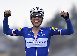 March 23, 2018 - Harelbeke, Belgique - HARELBEKE, BELGIUM - MARCH 23 :  TERPSTRA Niki (NED)  of Quick - Step Floors celebrates the win  during the 60th Record Bank E3 Harelbeke cycling race with start in Harelbeke and finish in Harelbeke (206 kms) on March 23, 2018 in Harelbeke, Belgium, 23/03/2018 (Credit Image: © Panoramic via ZUMA Press)