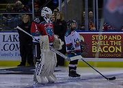 KELOWNA, CANADA - NOVEMBER 10:  Pepsi Player of the game in the lineup with James Porter #1 of the Kelowna Rockets at the Kelowna Rockets game on November 10, 2017 at Prospera Place in Kelowna, British Columbia, Canada.  (Photo By Cindy Rogers/Nyasa Photography,  *** Local Caption ***