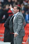 Graham Westley manager of Peterborough United during the Sky Bet League 1 match between Doncaster Rovers and Peterborough United at the Keepmoat Stadium, Doncaster, England on 19 March 2016. Photo by Ian Lyall.