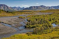 Savage River from Park Road; Alaska Range background; Denali National Park; Alaska