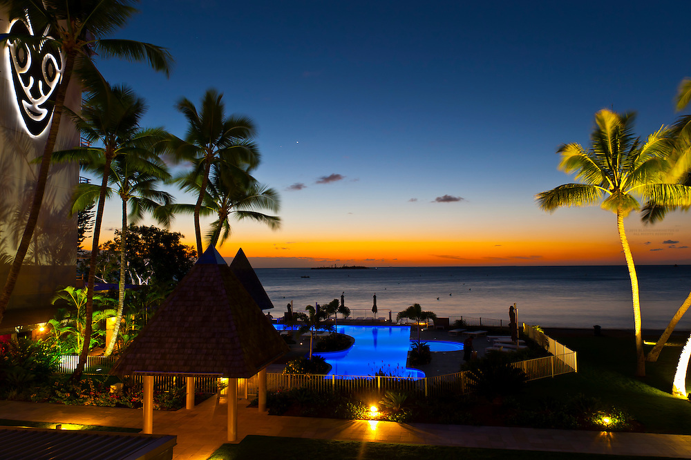 Swimming pool, Royal Terra Beach Resort Hotel, Noumea, Grand Terre, New Caledonia