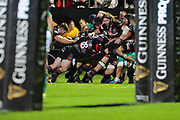 Edinburgh could not get over the line in the last few minutes of the Guinness Pro 14 2017_18 match between Edinburgh Rugby and Benetton Treviso at Myreside Stadium, Edinburgh, Scotland on 15 September 2017. Photo by Kevin Murray.
