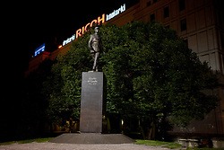 Sculpture of Charles de Gaulle in the centre of Warsaw at night, on September 05, 2009 in Warsaw, Poland. (Photo by Vid Ponikvar / Sportida)