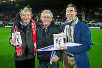 ALKMAAR - 21-11-2015, AZ -  sc Heerenveen , AFAS Stadion, Kees Kist (m), Kristen Nygaard, Marco Wijnstekers.
