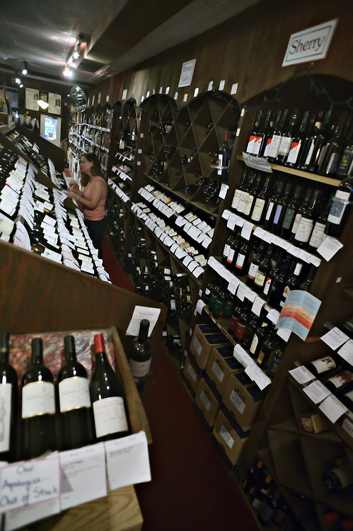 Interior, Madison Wine Shop, Madison, Connecticut, US