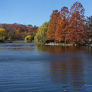 The Harlem Meer in Central Park, New York City.