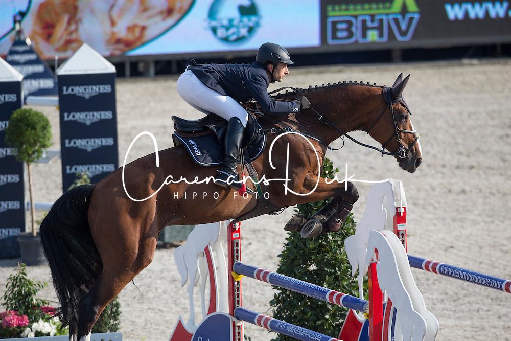 Dunon Gilles (BEL) - Fou de Toi van de Keikhoeve <br /> Belgian Championship<br /> FEI World Breeding Jumping Championships for Young Horses - Lanaken 2014<br /> &Acirc;&copy; Dirk Caremans