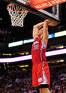 Apr. 1, 2011; Phoenix, AZ, USA; Los Angeles Clippers forward Blake Griffin (32) dunks the ball against the Phoenix Suns at the US Airways Center. Mandatory Credit: Jennifer Stewart-US PRESSWIRE