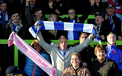 Bristol Rovers fans - Photo mandatory by-line: Neil Brookman/JMP - Mobile: 07966 386802 - 29/04/2015 - SPORT - Football - Nailsworth - The New Lawn - Forest Green Rovers v Bristol Rovers - Vanarama Football Conference