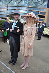 LORD & LADY NICHOLAS WINDSOR at day 1 of the Royal Ascot Racing Festival 2012 held on 19th June 2012.