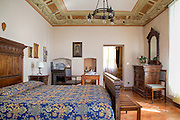 Ornate Bedroom in Tuscany Italy