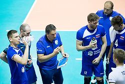 Samo Miklavc, head coach of Slovenia during volleyball match between national teams of Slovenia and Netherlands of 2018 CEV volleyball Godlen European League, on June 6, 2018 in Arena Bonifika, Koper, Slovenia. Photo by Urban Urbanc / Sportida