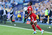 Fulham forward Ivan Cavaleiro (19) controls the ball on his chest during the EFL Sky Bet Championship match between Sheffield Wednesday and Fulham at Hillsborough, Sheffield, England on 21 September 2019.