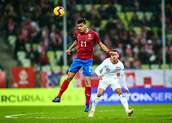 November 15, 2018 - Gdansk, Poland - David Pavelka of Czech Republic Grzegorz Krychowiak of Poland during the international friendly soccer match between Poland and Czech Republic at Energa Stadium in Gdansk, Poland on 15 November 2018. (Credit Image: © Foto Olimpik/NurPhoto via ZUMA Press)