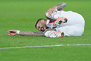 Mauro ICARDI (PSG) on the floor during the UEFA Champions League, Group A football match between Paris Saint-Germain and Club Brugge on November 6, 2019 at Parc des Princes stadium in Paris, France - Photo Stephane Allaman / ProSportsImages / DPPI