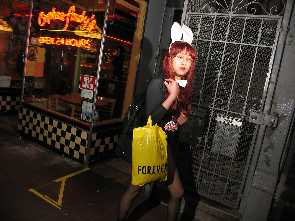 Halloween in The Castro, San Francisco, CA. Just add some bunny ears and PRESTO! You're in costume!