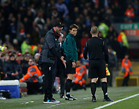 Football - 2019 / 2020 UEFA Champions League - Group E: Liverpool vs. Napoli<br /> <br /> Liverpool manager Jurgen Klopp shows his displeasure with Jose Luis Munuera Montero (ESP), at Anfield.<br /> <br /> COLORSPORT/ALAN MARTIN