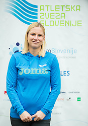 Marina Tomic during press conference when Slovenian athletes and their coaches sign contracts with Athletic federation of Slovenia for year 2016, on February 25, 2016 in AZS, Ljubljana, Slovenia. Photo by Vid Ponikvar / Sportida